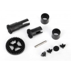 Traxxas 7579 - REPLACED BY 7579x - Gear set, differential (output gears (2)/ spider gears (4))/ring gear,