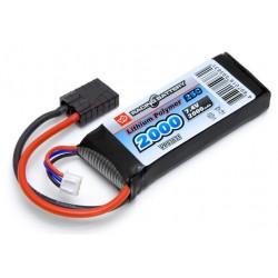 LiPo-batteri 7,4 2000mAh 25C (F.eks. Traxxas 1:16 )