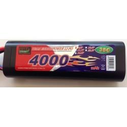 LiPO 7,4V - 4000mAh - 35c - Deans/T-plug - hard pack