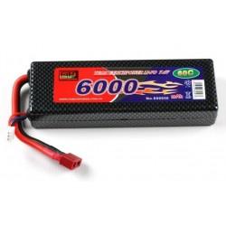 LiPo batteri 7,4V - 6000mAh - 60c - hard case - Deans / T-plug