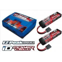 Kombo-pakke LiPo 11,1 x 2 + lader