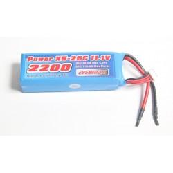 LiPo 11,1 3S 2200mAh 25c / 50C burst