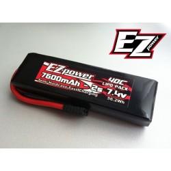 LiPo-batteri 7,4V 7600mAh Traxxas-stik