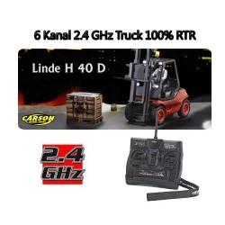Linde gaffeltruck - tro kopi af en Linde H40D. 6 kanaler 2.4Ghz