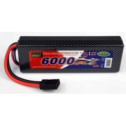 LiPo 7,4v 6000mah 60C HARD BOX Traxxas stik