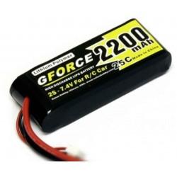 LiPo 7,4V 2200mAh TRX-stik 1/16