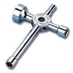 Krydsnøgle, stor til f.eks. hjul, møtrikker, gløderør m.v.