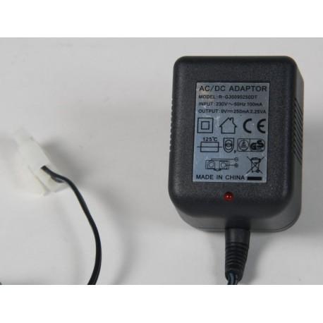 NiMh lader til 7,2V batterier - standard lader med Tamiya stik 250mAh