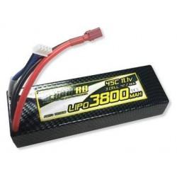 LiPo 45C 3800mAh 11,1v Hardcase deans T-plug