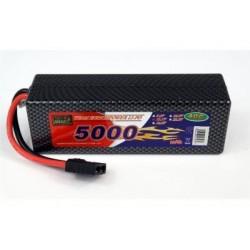 LiPo-batteri 11,1V - 5000mAh - 40c - hard case - TRX-stik
