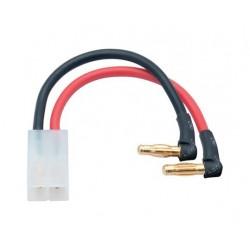 Adapterstik til hardcase-LiPo-batterier til Tamiya-stik 4mm han-stik