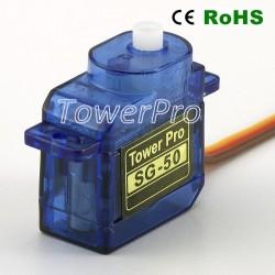 Tower Pro mikro servo SG90 - perfekt til båd, fly, bil, drone m.v.