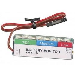 Batterimonitor 4,5V samt 6,0V