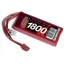 LiPo 11,1V 1800mAh 20c Deans stik / T-plug