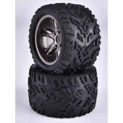 16-ZJ01 TIRE WITH GREY WHEEL RIM