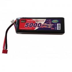 LiPo-batteri 11,1V - 5000mAh - 40c - hard case - Deans / t-Plug