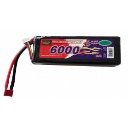 11,1V 6000mAh - deans stik - 60c