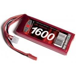 LIPO 7,4V 1600MAH 25C JST PLUG (SOFT CASE)