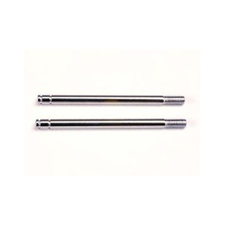 Traxxas 1664 Shock Shafts Chrome Finish Long (2)