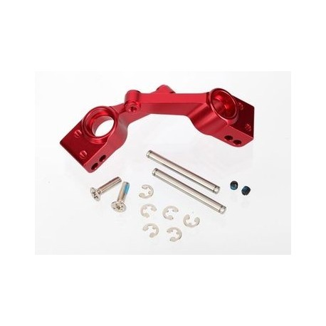 Traxxas 1952A Carriers, Stub Axle Rear Aluminium Red (2)