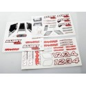 Traxxas 2413R Decal sheets, Bandit VXL