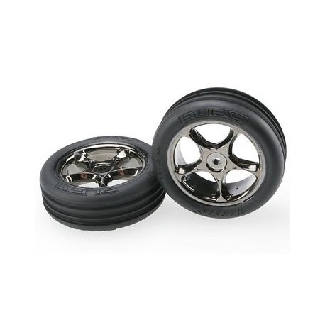 "Traxxas 2471A Tires & Wheels 2,2"" Alias/Tracer Medium 2WD Front (2)"