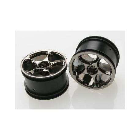"""Traxxas 2472A Wheels Tracer 2,2"""" Black Chrome Rear (2)"""
