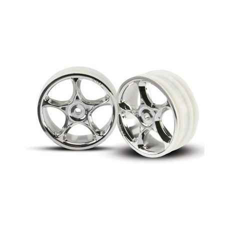 "Traxxas 2473 Wheels Tracers 2,2"" Chrome 2WD Front (2)"