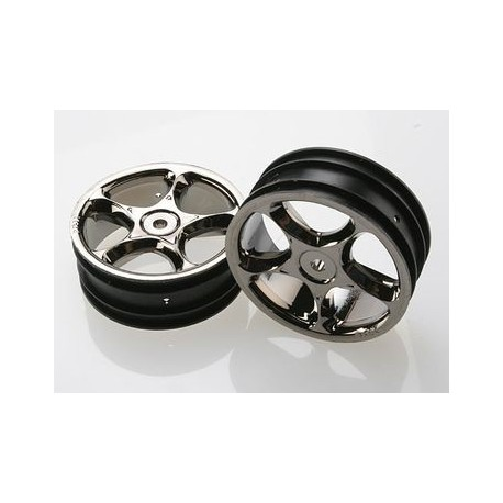 "Traxxas 2473A Wheels Tracers 2,2"" Black Chrome 2WD Front (2)"