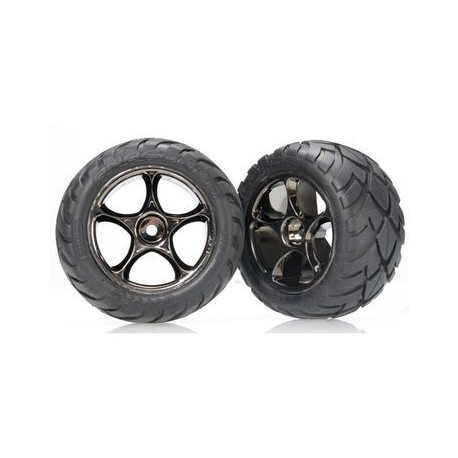 "Traxxas 2478A Tires & Wheels 2,2"" Anaconda/Tracer Black Chrome Rear (2)"