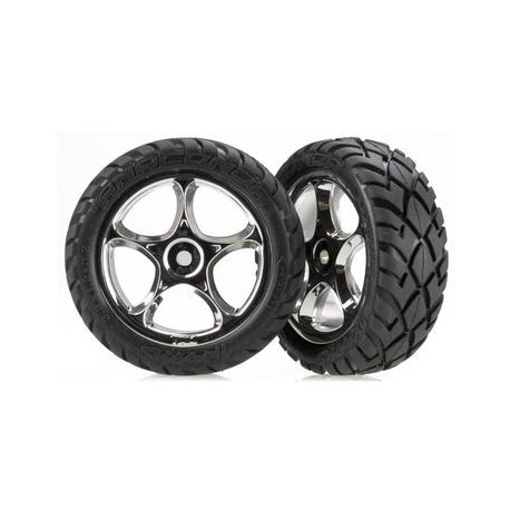 Traxxas 2479R Tires & Wheels Anaconda/Tracer Chrome 2WD Front (2)