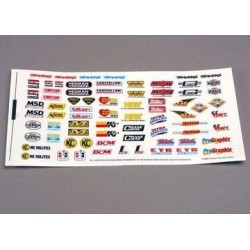 Traxxas 2514 Decal sheet, racing sponsors