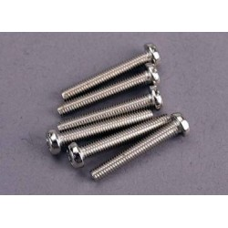 Traxxas 2566 Screws, 3x20mm roundhead machine (6)