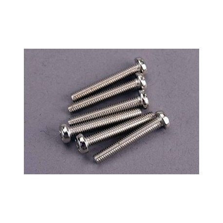 Traxxas 2566 Screws, 3x20mm roundhead machine (6)