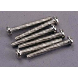 Traxxas 2567 Screws, 3x23mm roundhead machine (6)