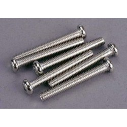 Traxxas 2571 Screws, 4x30mm roundhead machine (6)