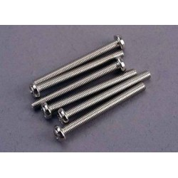 Traxxas 2572 Screws, 3x30mm roundhead machine (6)