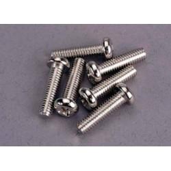 Traxxas 2573 Screws, 4x15mm roundhead machine (6)