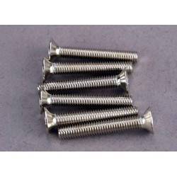 Traxxas 2590 Screws, 3x20mm countersunk machine screws (6)