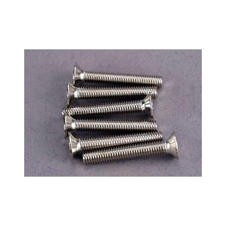 Traxxas 2590 Screws, 3x20mm countersunk machine screws (6)