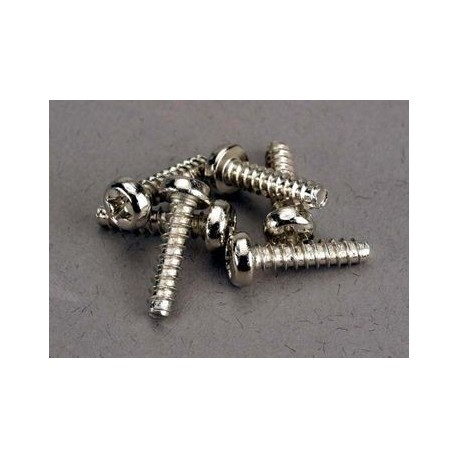 Traxxas 2676 Screws, 3x12mm roundhead self-tapping (6)