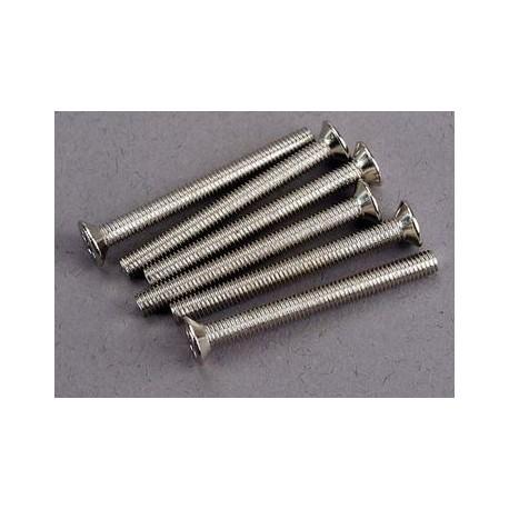Traxxas 3163 Screws, 3x30mm countersunk machine (6)