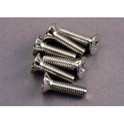 Traxxas 3167 Screws, 4x15mm countersunk machine (6)