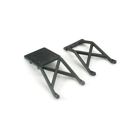 Traxxas 3623 Skid Plates Front and Rear Black