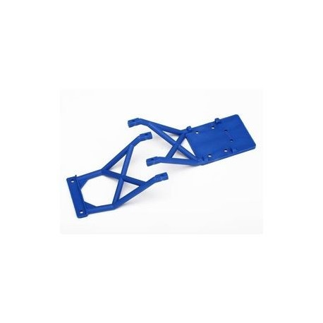 Traxxas 3623X Skid Plates Front and Rear Blue