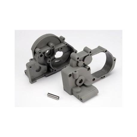 Traxxas 3691A Gearbox Halves Grey