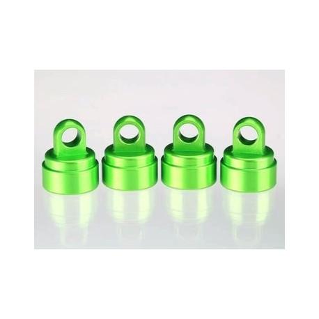 Traxxas 3767G Shock Caps Green Aluminium (4) Ultra-Shocks