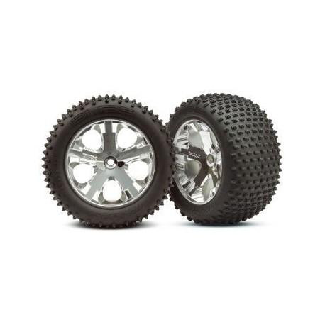 "Traxxas 3770 Tires & Wheels Alias/All-Star Chrome 2,8"" (2)"