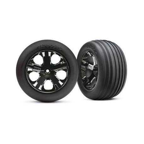"Traxxas 3771A Tires & Wheels Ribbed/All-Star Black Chrome 2,8"" (2)"