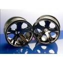 """Traxxas 3772A Wheels All-Star 2.8"""" Black Chrome (2)"""